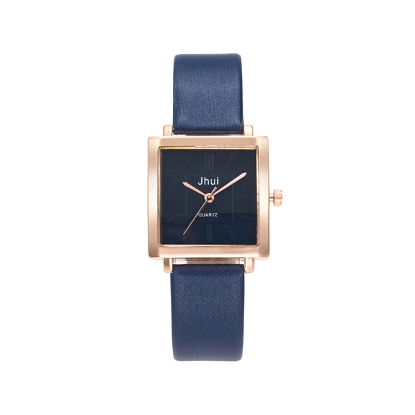 Square Dial Formal Watch with leather strap