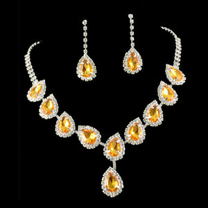Radiant Gemstone Queen Necklace Set