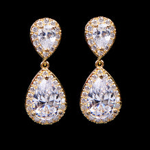 Glistering Long Rhinestone & Crystal Earrings