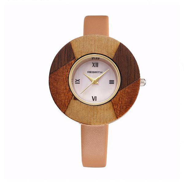 Wood Dial with Leather Strap