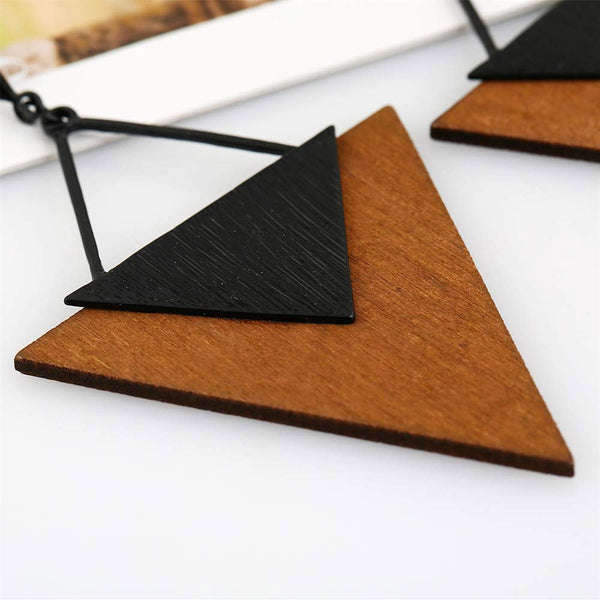 Triangular Alloy Statement Women Earrings