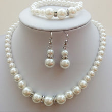 Vintage Pearl Necklace Set with Bracelet