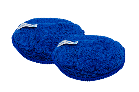 Circular Blue Cushioned Applicator Pads with Hand Pouches