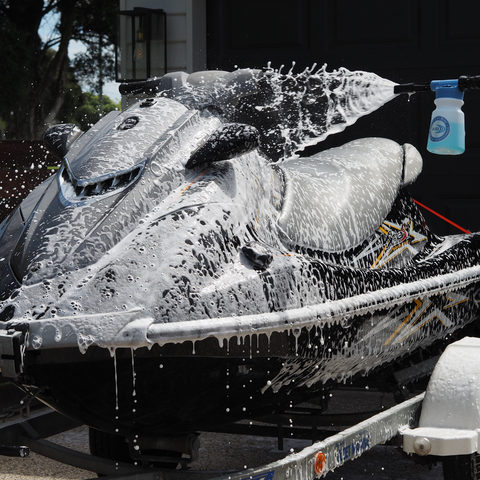 Jet Ski with Snow Thrower and Blue Salt Wash