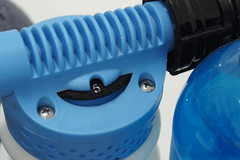 Closeup of a Snow Foaming Applicator Gun Displaying the dilution options