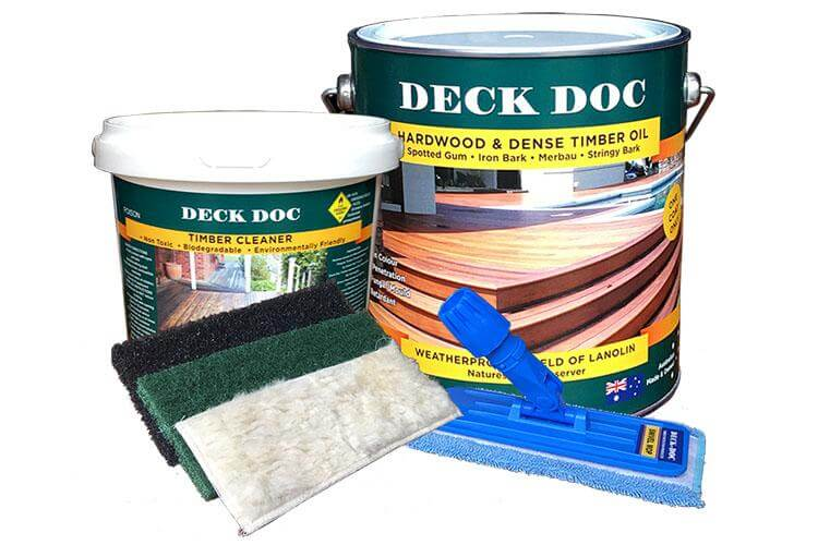 Deck Doc Hardwood & Dense Timber Oil Kit