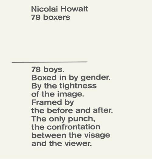 78 BOXERS / Nicolai Howalt / signed / SOLD OUT