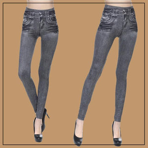Slim-Fit Denim Fleece Jeggings