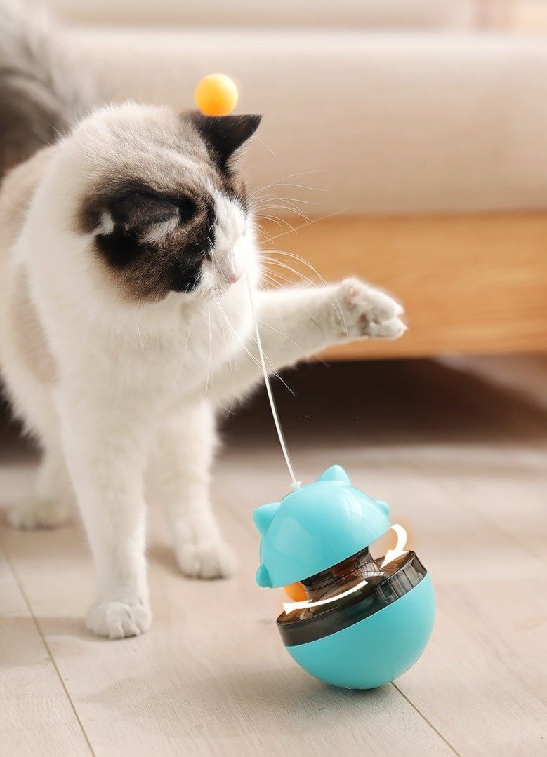 CAT FOOD DISPENSER & TUMBLER TOY
