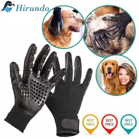 Hirundo® Pet Grooming Gloves For Cats, Dogs & Horses - (1 pair)