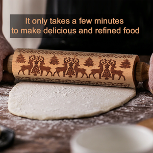 RollPin™ Christmas Wooden Rolling Pin