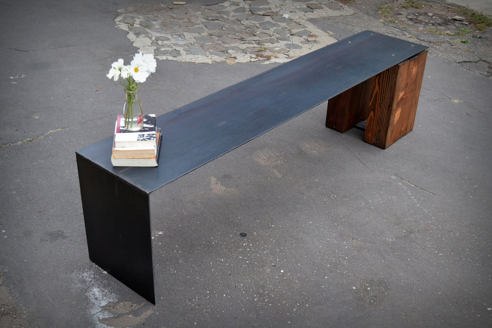 Floating Steel Waterfall Bench