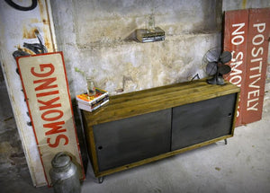 Steel Door Media Credenza