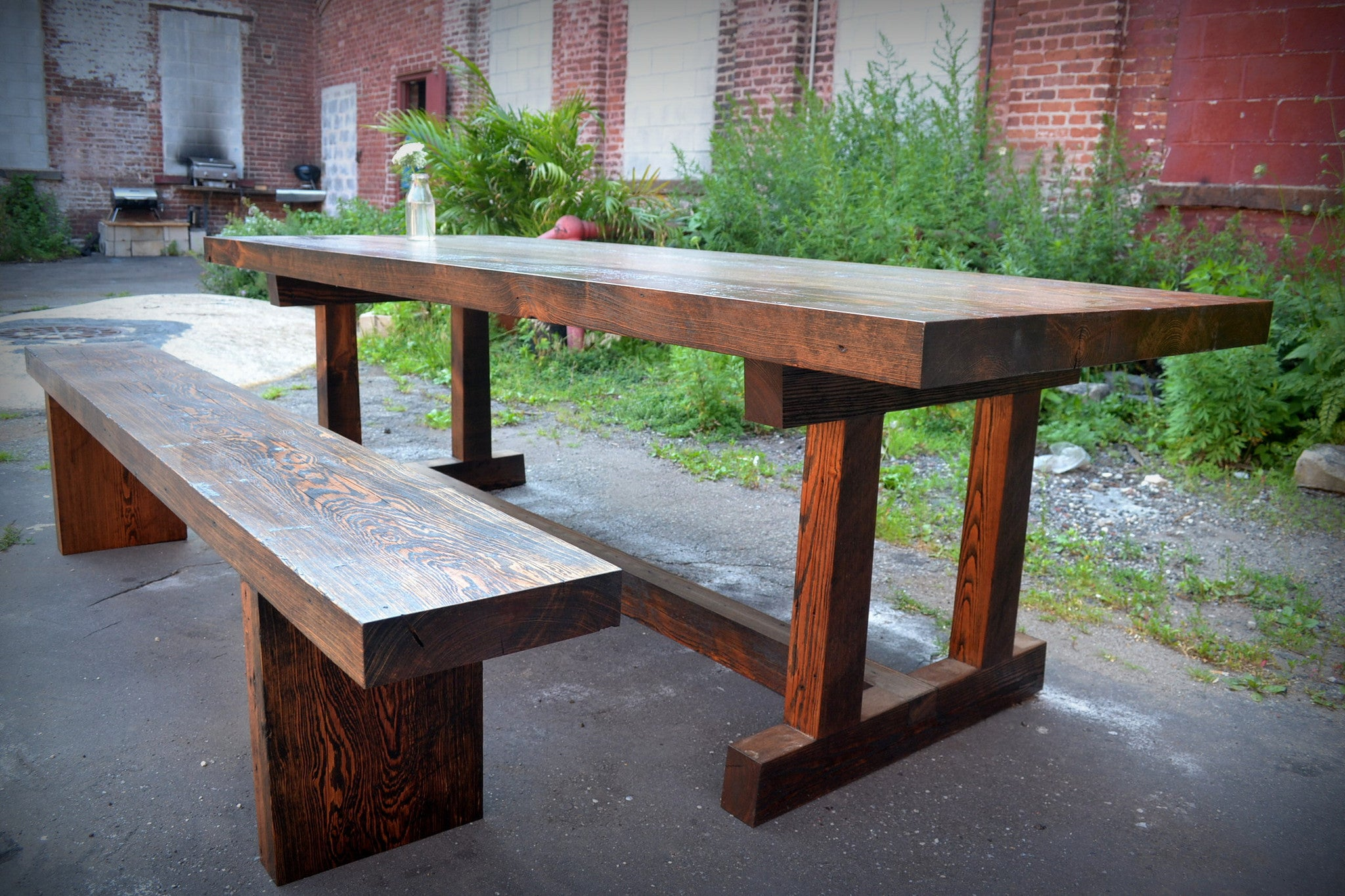 Deep Southern Pine Dining Table