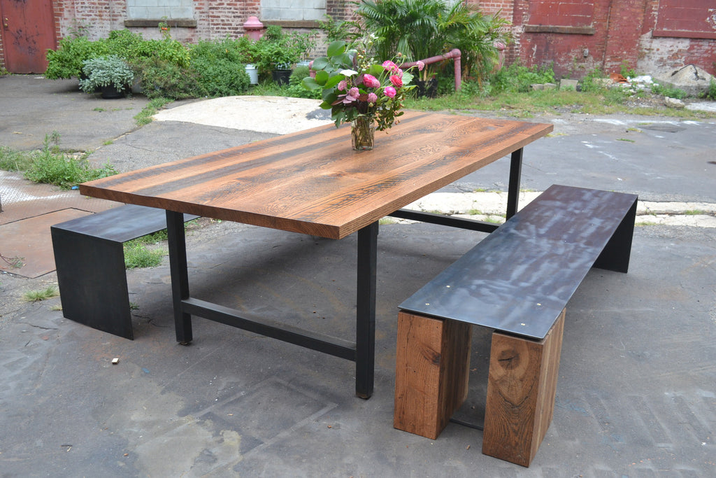 H-Frame Dining Table
