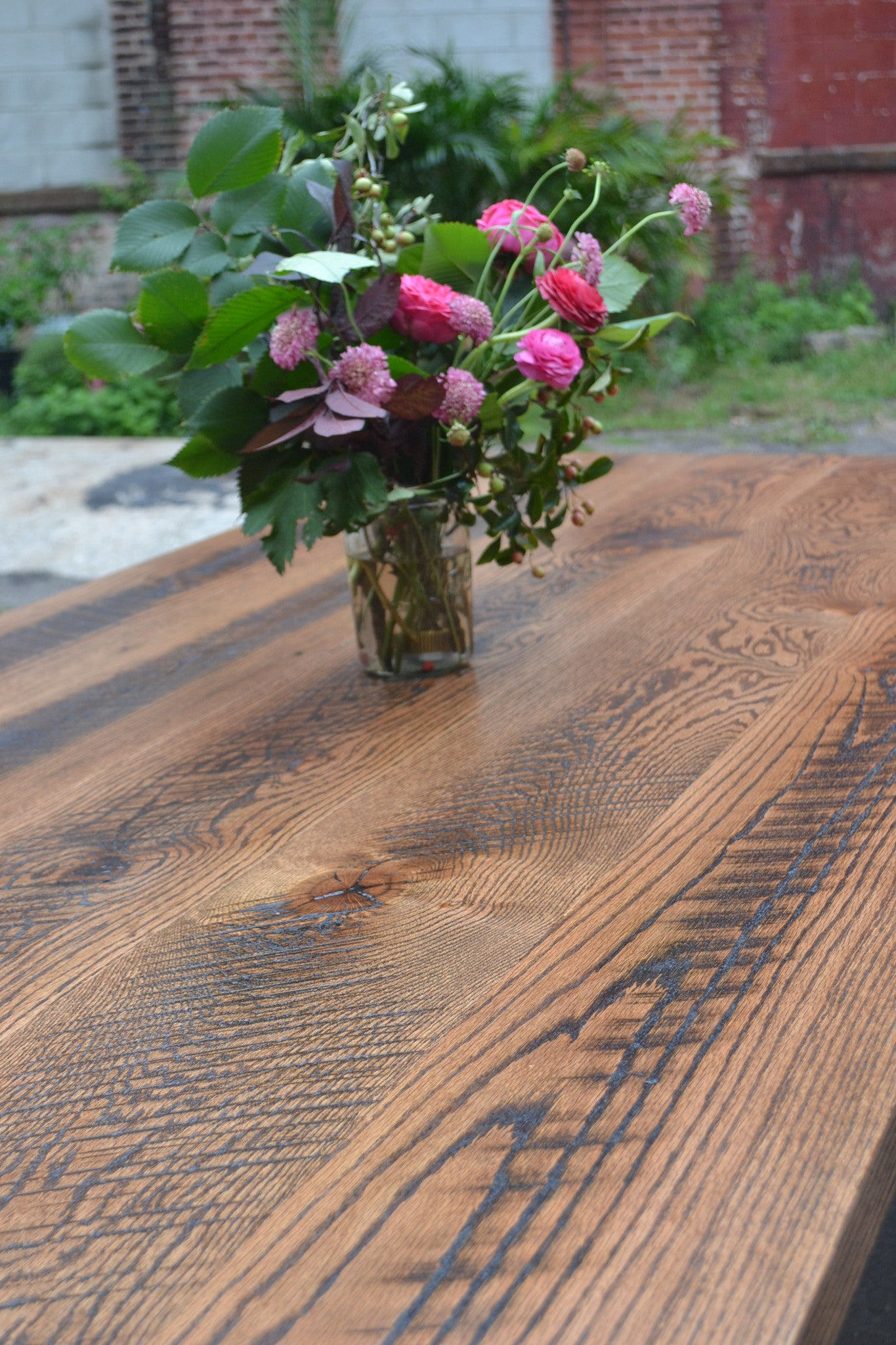 Skip-planed Oak Dining Table