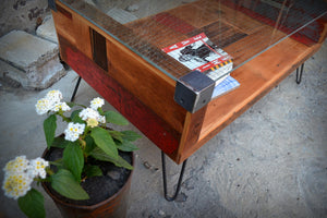 Wire Glass Coffee Table