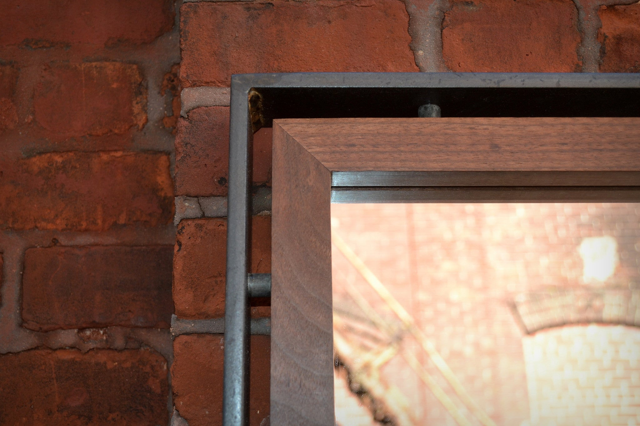 Floating Walnut Mirror