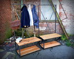 Reclaimed Oak Entry Bench