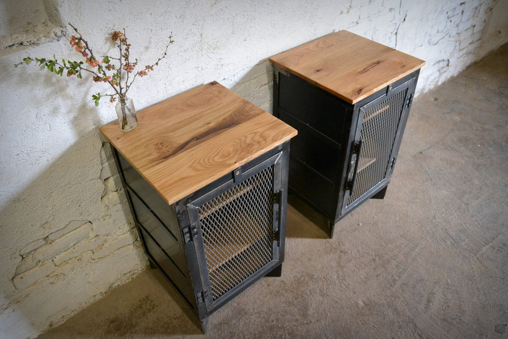 Blackened Steel End Cabinet