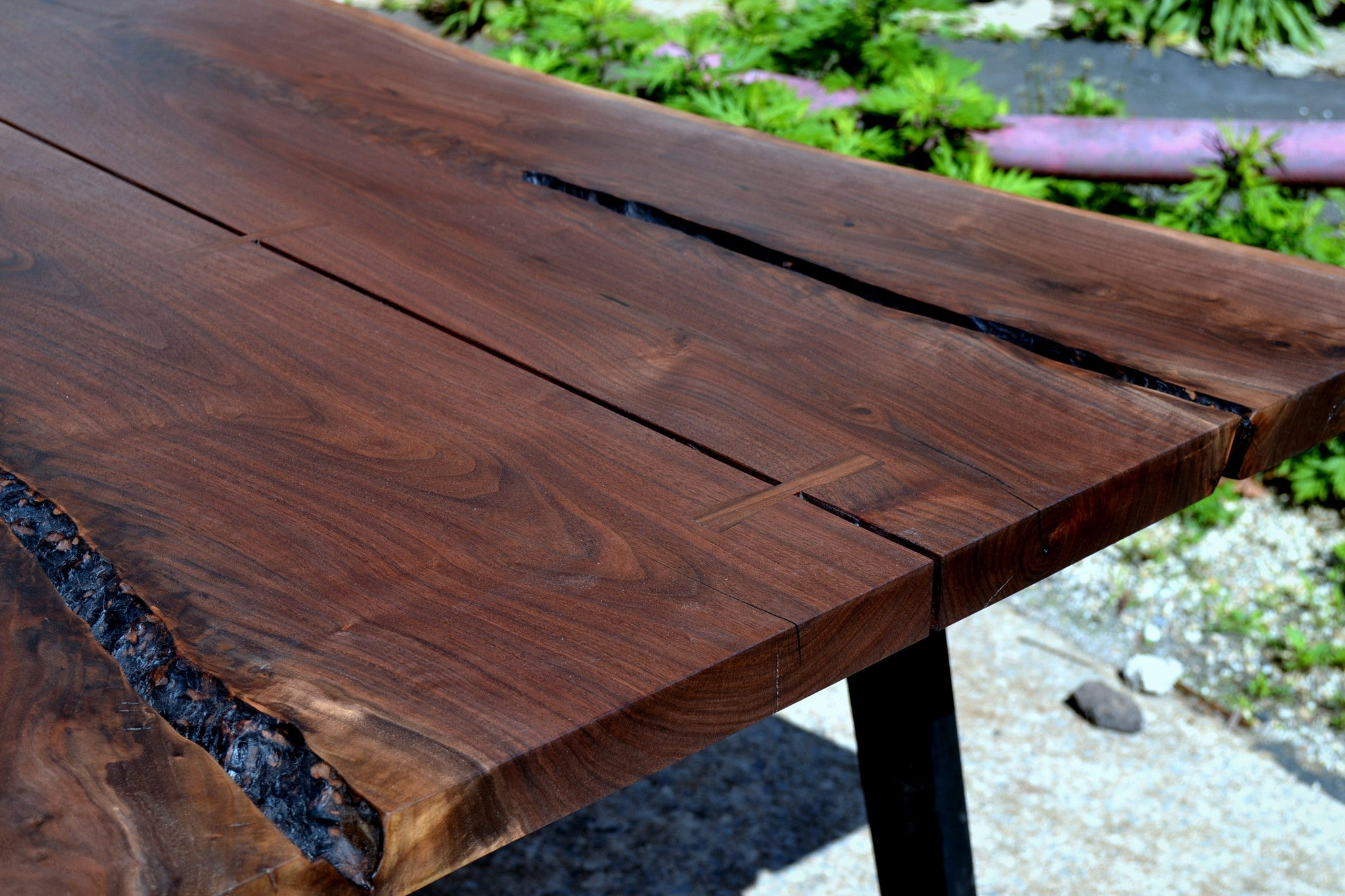 Bookmatched Walnut Dining Table