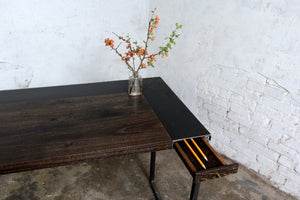 Reclaimed Oak Pencil Drawer Desk