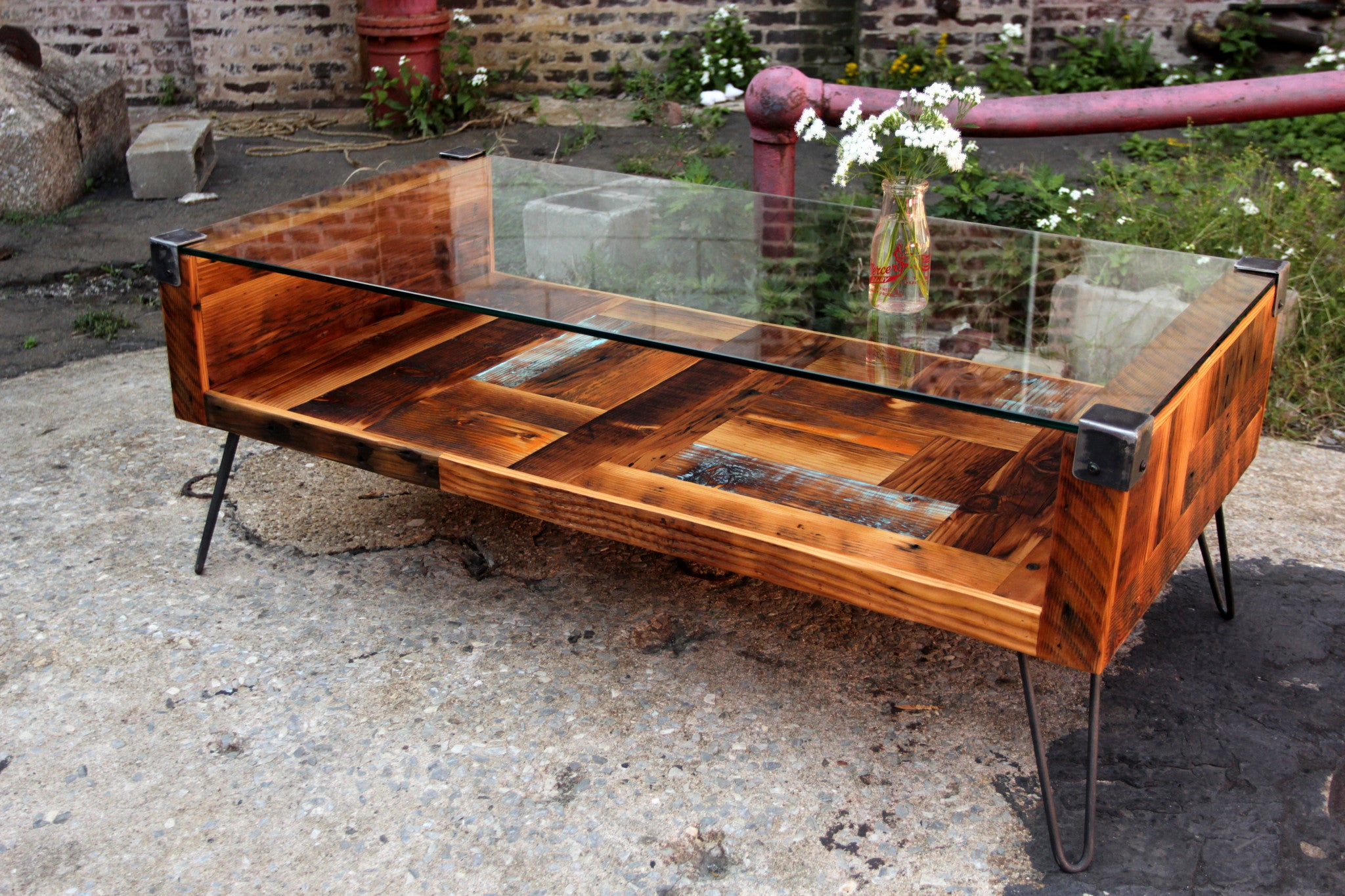 Picture of: Tempered Glass Coffee Table Recycled Brooklyn