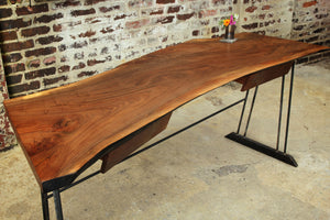 Walnut Slab Writing Desk