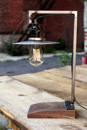 Walnut Cutoff Reading Lamp