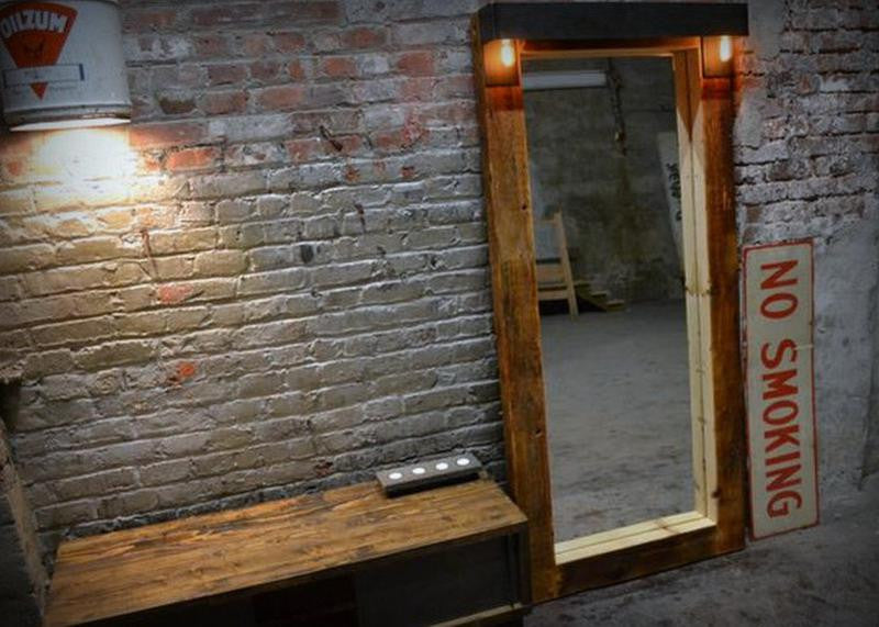 Lighted Joist Monster Mirror