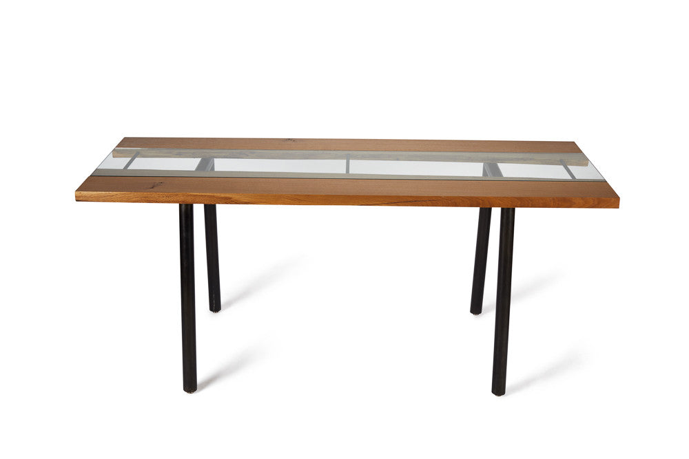 Glass Channel Dining Table