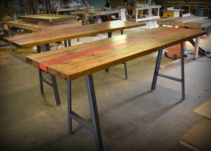 A-Frame Pine Dining Table