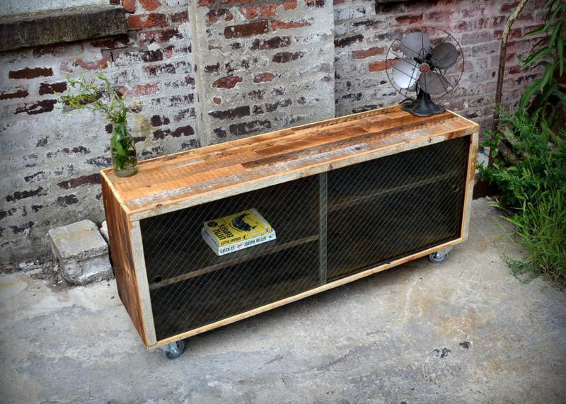 Glass Door Media Credenza