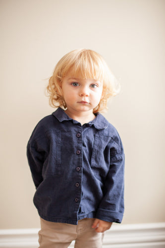 Boys Cotton Boxy Long Sleeved Shirt