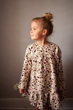 Load image into Gallery viewer, Girls Floral Corduroy Dress