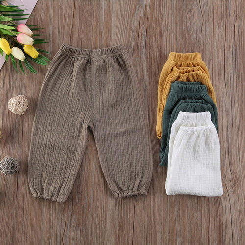 Unisex Baby Cotton Muslin Pants