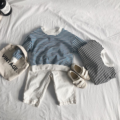 Unisex Striped Cotton Sweater