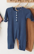 Load image into Gallery viewer, Unisex Baby Cotton Ribbed Romper