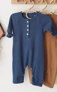 Unisex Baby Cotton Ribbed Romper
