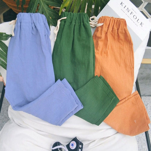 Unisex Cotton Harem Pants