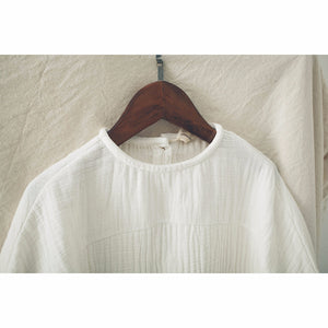 Unisex Long Sleeved Cotton Muslin Shirt