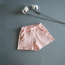 Load image into Gallery viewer, Unisex Cotton Muslin Shorts