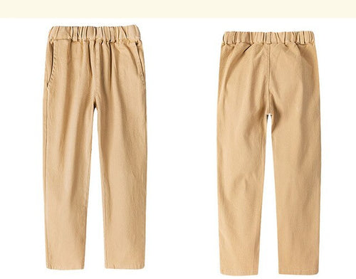 Boys Cotton Khaki Pants