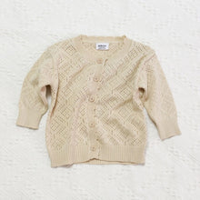 Load image into Gallery viewer, Baby Girls Geometric Knit Cardigan