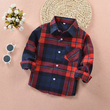 Load image into Gallery viewer, Boys Plaid Shirt