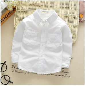 Boys White Cotton Dress Shirt