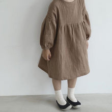 Load image into Gallery viewer, Girls Long Sleeved Cotton Dress