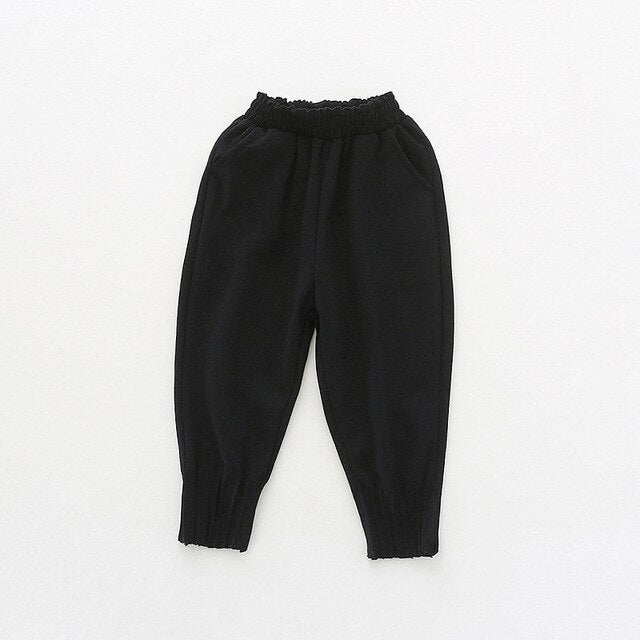 Girls Ankle Length Trousers with Pockets