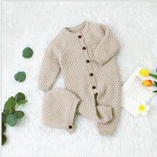 Load image into Gallery viewer, Unisex Baby Cotton Knitted Button Front Onesie