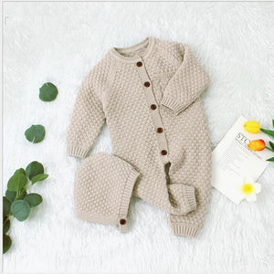 Unisex Baby Cotton Knitted Button Front Onesie